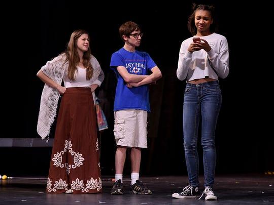 Lauren Crook (from left), Danny Zivian and Megan Kipper