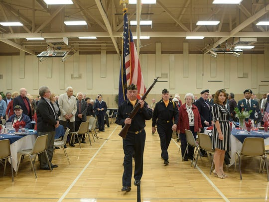 Presentation of Colors during the annual Veterans Day