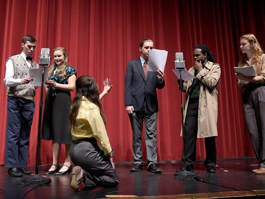 "Harrison High School students rehearse ""It's a Wonderful"