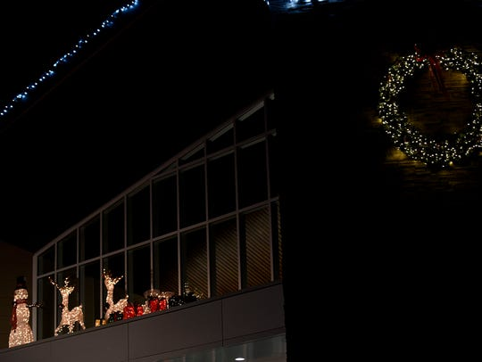 Lights are turned on at Westland City Hall.