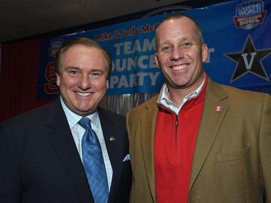 North Carolina State head coach Dave Doeren and Fox