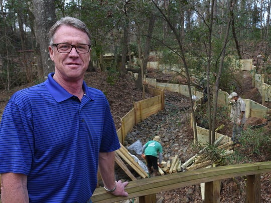 Bill Fleming at a south Shreveport home where he is