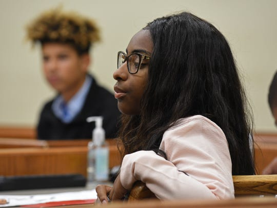 Master juror Nya-Simone Caldwell in teen court held