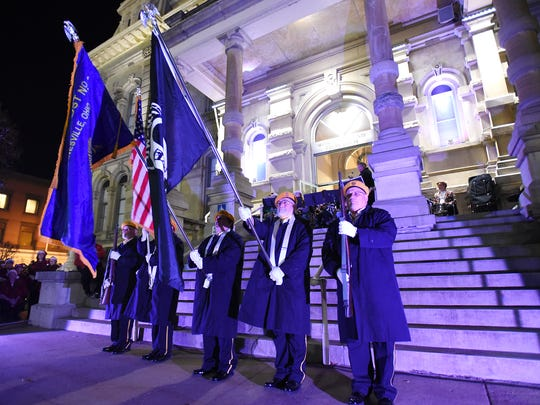 The Zanesville American Legion Color Guard opened the Miracle on Main Street in this TR file photo.