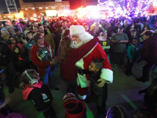 Santa greets his fans when he arrives in Zanesville during the annual Miracle on Main Street celebration. This year's event will take place Wednesday, Dec. 4.