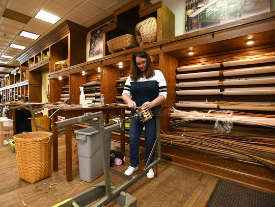 Mary Senter, who has been with Longaberger since 1981,