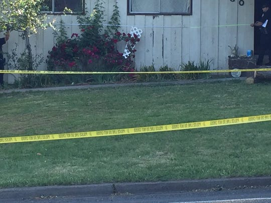 Redding Police on Monday morning investigate a reported shooting at a home  on Mistletoe Lane.