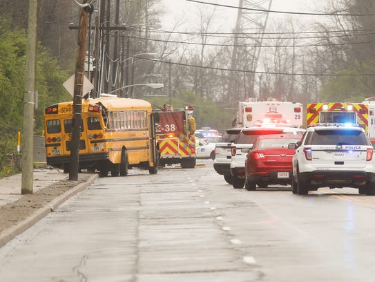 A school bus and multiple vehicles collided in Winton Hills on April 23 sending 14 children to the hospital.