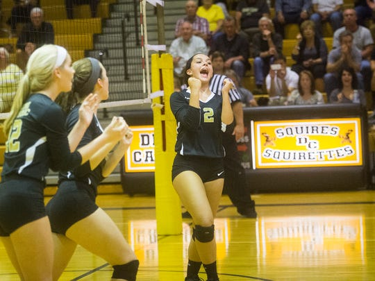 Delone Catholic's Chloe Kindig reacts during a game