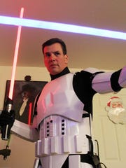 Bob DeSimone, a star wars fan is photographed in his