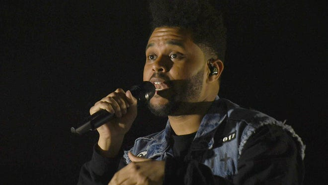 The Weeknd closes out the final night of the 16th annual Bonnaroo Music and Arts Festival in Manchester, Tenn, June 11, 2017.