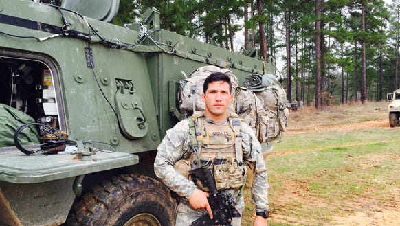 First Lt. Andres Grisales is the leader of Mortar Platoon,