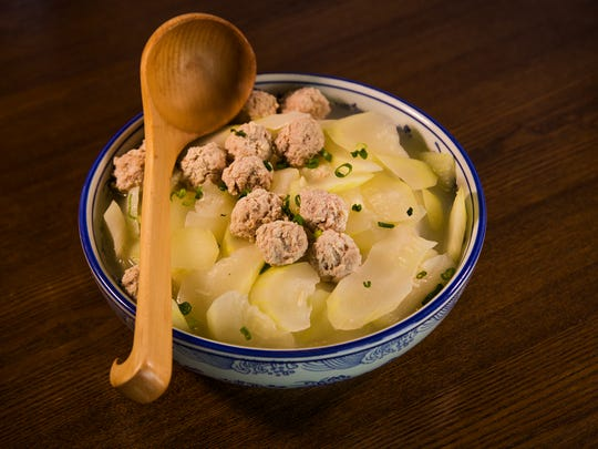This is the winter melon with meatball soup at the