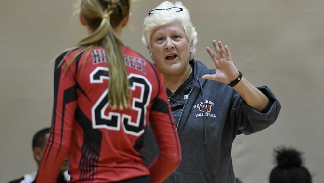 Lynn Avant, right, who lwon more than 700 matches in 25 seasons as volleyball coach at Hillcrest and Boiling Springs, will be inducted into the SCACA Hall of Fame in July.