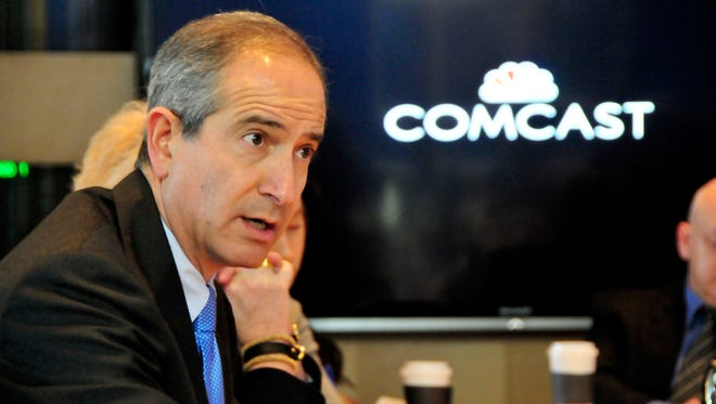 Comcast CEO Brian Roberts meets with the USA TODAY editorial board in McLean, Va. on Tuesday March 18, 2014. [Via MerlinFTP Drop]