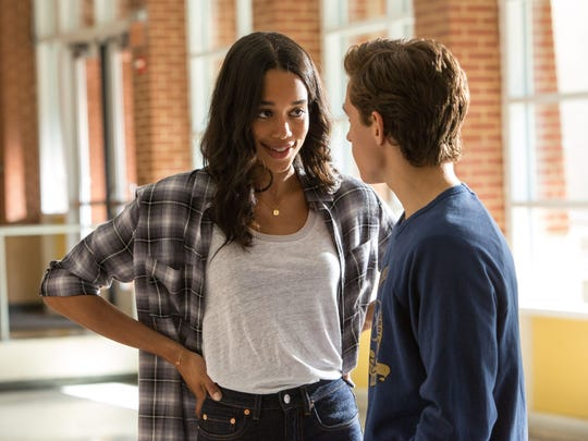 Peter Parker (Tom Holland, right) pines for Liz (Laura