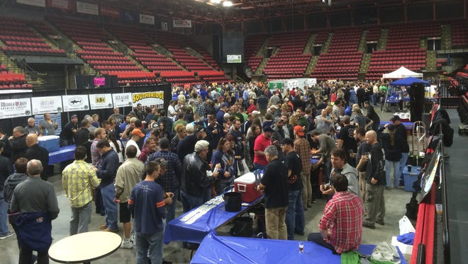 Brewfest in Binghmaton on Saturday Drew a large crowd.