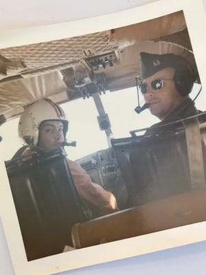 Bob Nopp, left, primarily flew a Grumman OV-1C Mohawk, a tactical reconnaissance and battlefield observation aircraft with twin turboprops.
