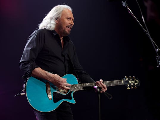 Barry Gibb performing