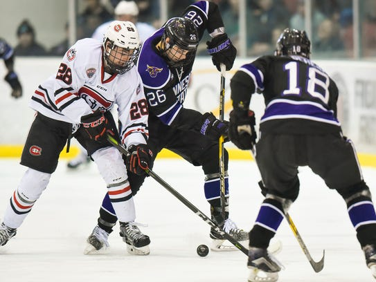 St. Cloud State's Kevin Fitzgerald and Minnesota State