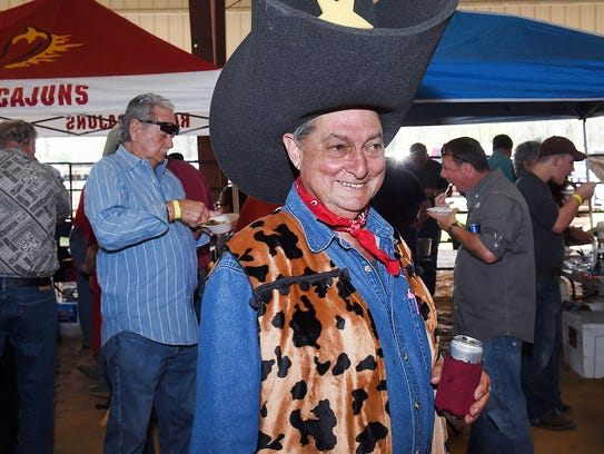 Large hats and large appetites at the annual Here's