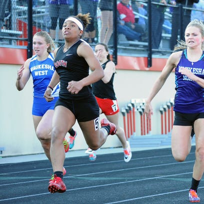 Armoni Brown dazzles at Classic 8 Conference track meet