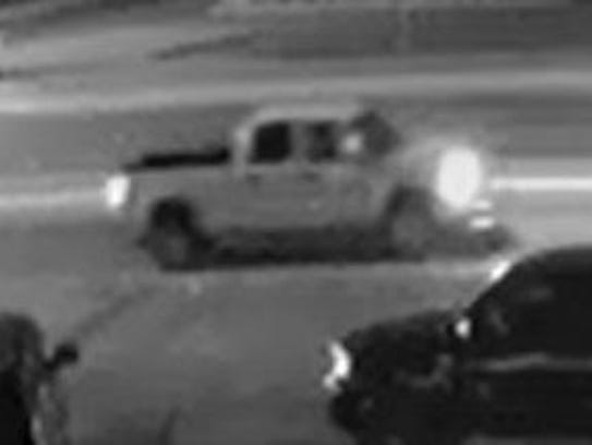 Security camera image of the suspect vehicle police