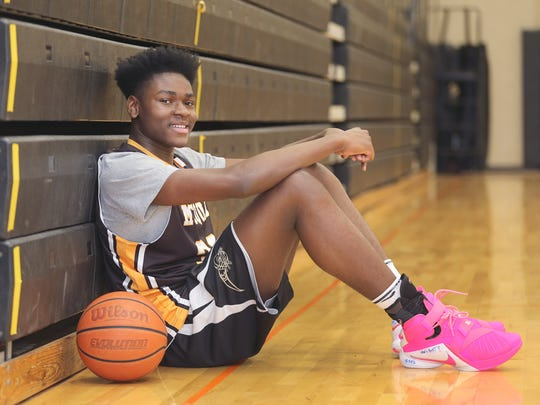 McQuaid freshman Isaiah Stewart is one of the top basketball players in the area. The 14-year-old is 6-foot-7 and had back-to-back 40-point games earlier this season.