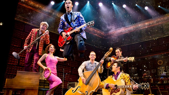 """The cast of """"Million Dollar Quartet,"""" which runs from Tuesday through Sunday at Wilmington's DuPont Theatre."""