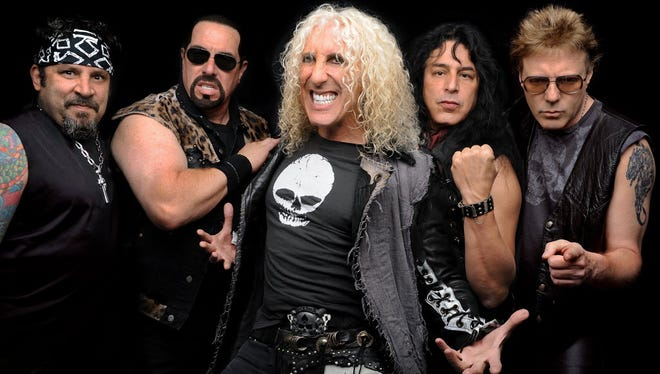 Dee Snider (center, pictured with his band, Twisted Sister) will perform a solo show at the Wellmont Theater in Montclair on Nov. 2
