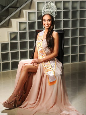 2016 Miss World Guam Phoebe Denight Palisoc, 17, at the residence of Jesrae and Troy Moylan in Nimitz Hill Oct. 13.