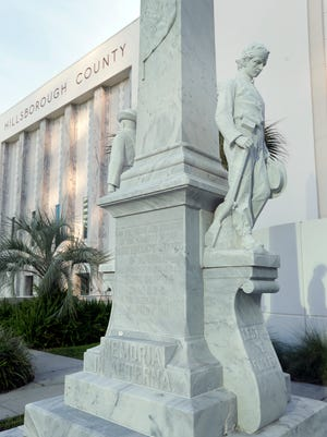 The Rays, Lightning and Bucs are all donating funds toward the removal of a Confederate statue in Tampa.