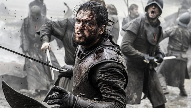Jon Snow in The Battle of the Bastards.