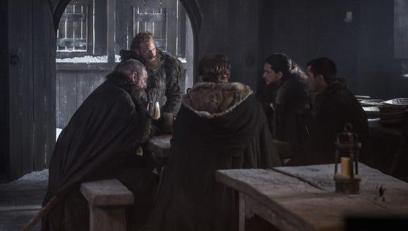 Tormund, Jon, Gendry, Jorah and Davos, ready to go