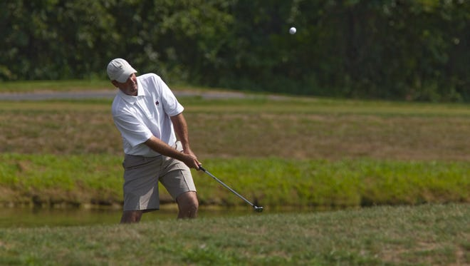 Newark resident Dave McNabb, shown here competing in a past Delaware Open, will tee it up in the U.S. Senior Open beginning Thursday.