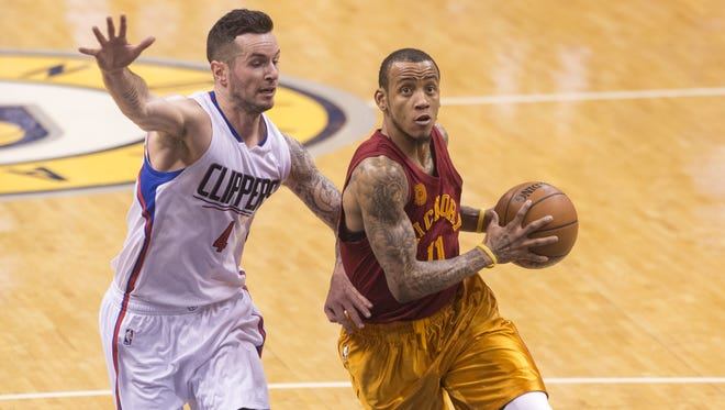 Indiana Pacers guard Monta Ellis (11) drives the ball past Los Angeles Clippers guard J.J. Redick (4) and toward the basket during the second half of an NBA basketball game, Tuesday, Jan. 26, 2016, at Bankers Life Fieldhouse in Indianapolis. The Clippers won, 91-89.