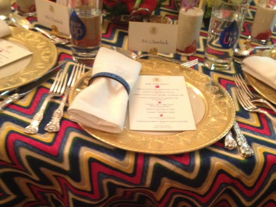 The place settings for Friday's event.