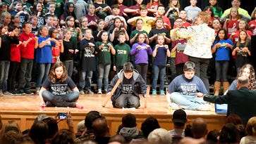 County fifth-graders join together in song