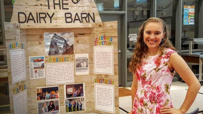 Rebekah Gauthier helped raise more than $20,000 to preserve the Central Dairy Barn as part of her senior project at Pineville High School.