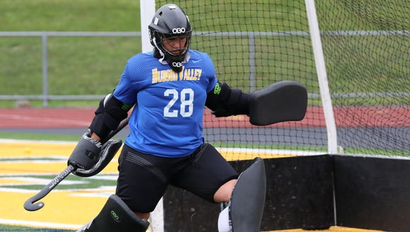 Cassie Halpin, a goalie on the Lakeland High School