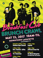 The poster for this year's Breakfast Club Brunch Crawl.