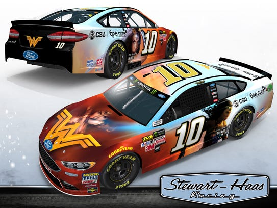 Danica Patrick will sport this paint scheme at two