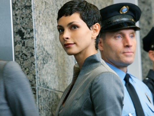 Morena Baccarin has captivated audiences on the big and small screen. She was particularly lovely as an alien lizard in 'V' a 2009 re-imagining of the 1980's miniseries about the world's first encounter with an alien race known as The Visitors. Now she's one of the stars of Showtime's hit series, 'Homeland.' USA TODAY's Ann Oldenburg offers a look at more Morena, on the red carpet and on the screen.