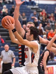 Galion's Chase Cooke takes it to the hoop Saturday