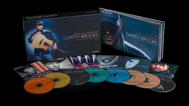 GARTH BROOKS, 'Blame It All on My Roots' (Pearl, six CDs/two DVDs, $25)   The country star's bargain box, his second exclusively for Walmart, delivers four discs of cover songs.