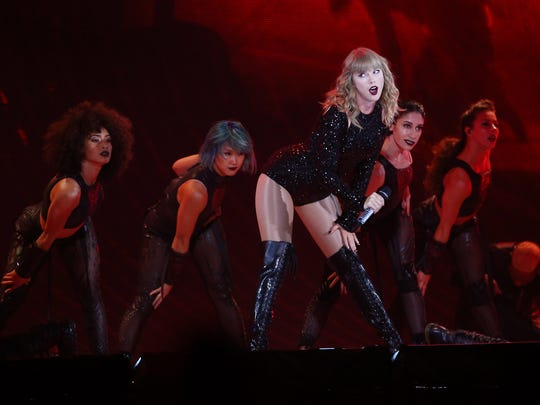 Taylor Swift performs during her Reputation Stadium Tour at MetLife Stadium on Friday in East Rutherford, NJ. July 20, 2018. East Rutherford, NJ.