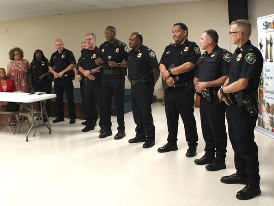 Shreveport police chief Alan Crump introduces police