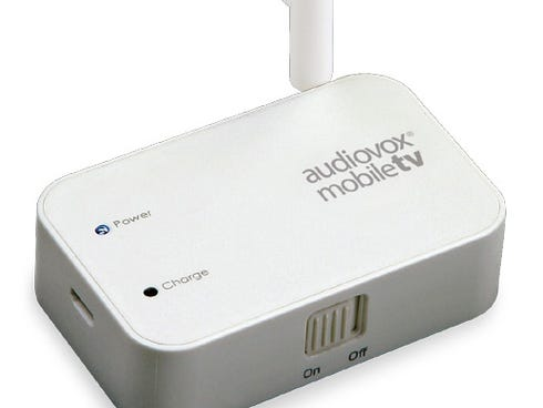 The Audiovox Mobile TV wireless receiver.