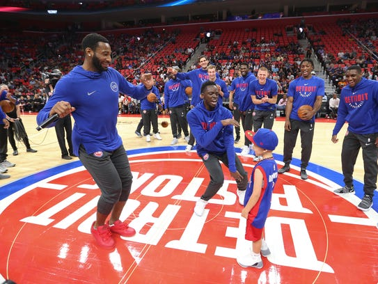 "Andre Drummond is trying to establish himself as the Pistons' ""engine."" Says teammate Reggie Jackson: ""I tell him every day that he's our engine. The car can only go as far as the engine takes you. However you want to look at it, that's our stallion, our Batman, he's it."""