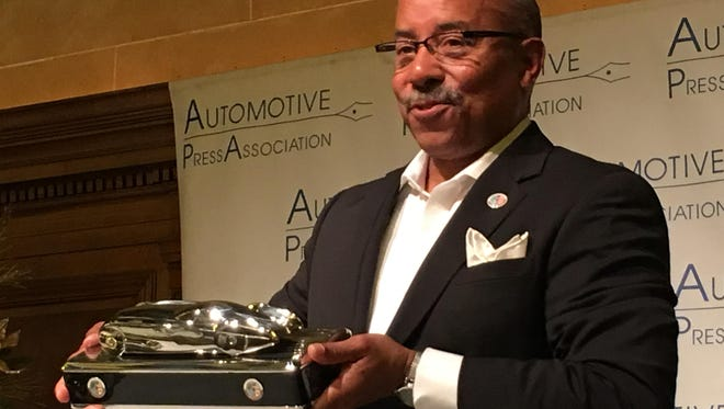 Famed auto designer Ed Welburn on Tuesday in Detroit unveiled a new trophy for the North American Car, Truck and Utility of the Year that will be awarded next month at the 2017 North American International Auto Show.